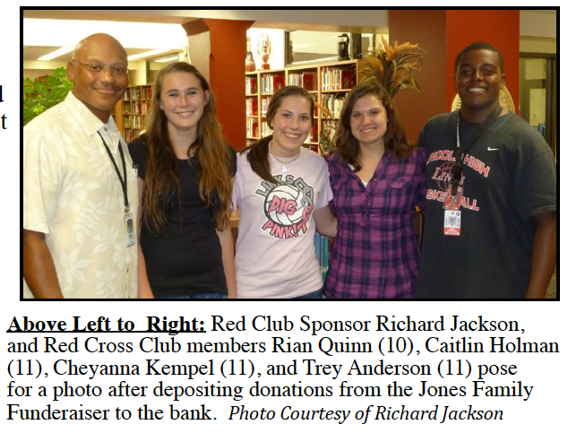 LHS Red Cross Club helps out local  family after fire destroys their home