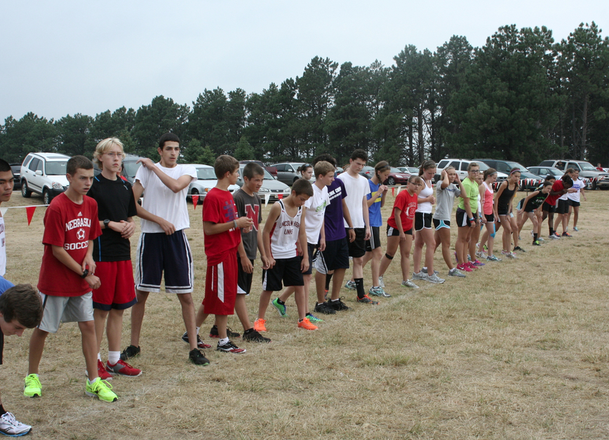 The+2013+LHS+Cross+Country+Teams+line+up+for+time+trials+at+Pioneers+Park+on+Friday%2C+August+24%2C+2012.+Photo+by+Coleman+Johnson