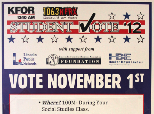 Links to cast Student Vote ballots Thursday, Nov. 1st