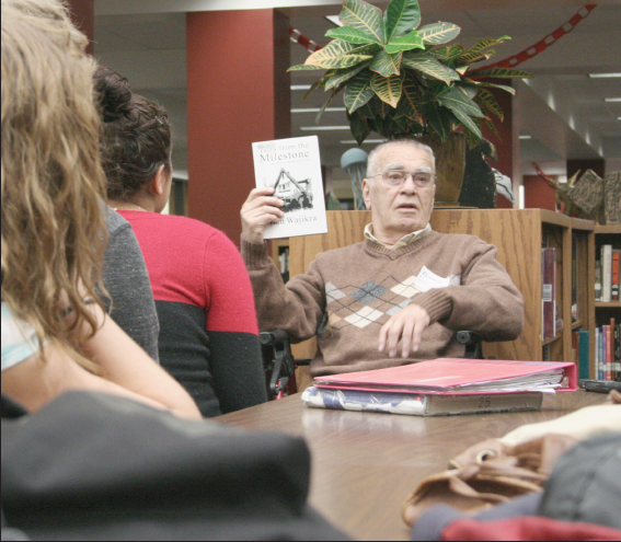 Holocaust Survivor Lou Leviticus shares his experiences with LHS students