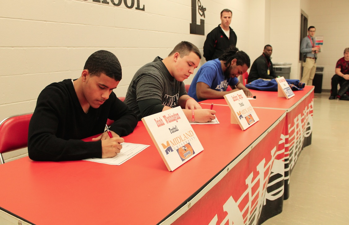 LHS Football Athletes Head to College