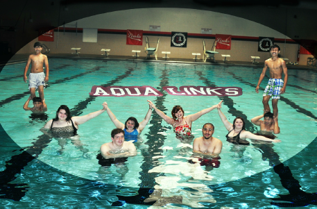 Not as easy as it looks: Lincoln High's synchronized swimming team works hard for upcoming performance.