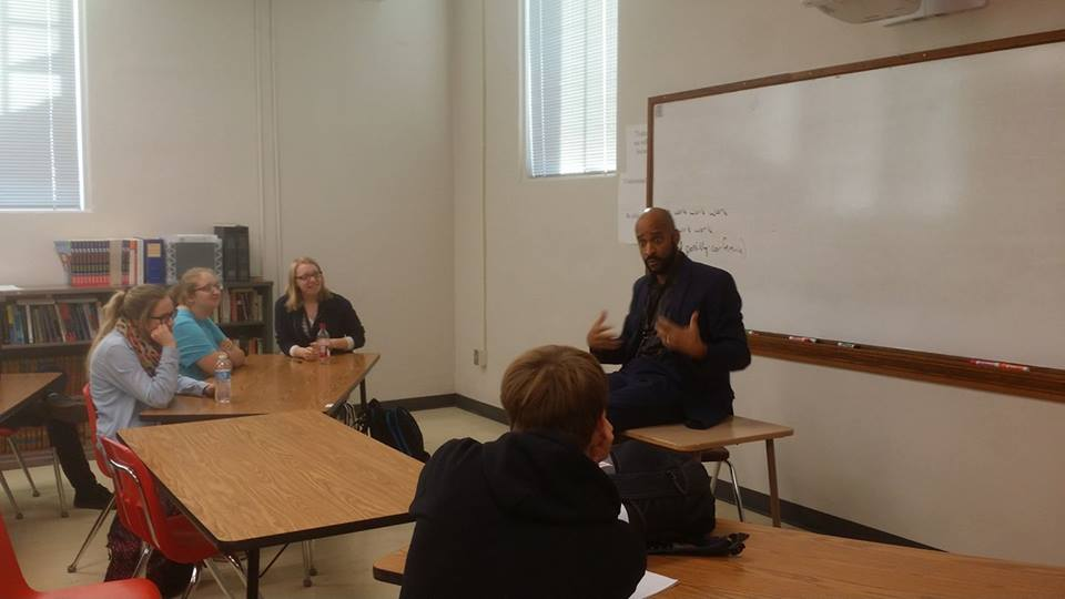 Pop Culture class meets director, actor, writer and professor, Booker T Mattison