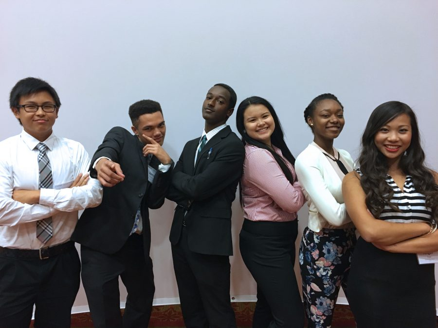 LHS DECA at Fall Leadership Conference (FLC) in Papillion, NE on October 3rd, 2016. From left to right: Long Pham (12), Jamil Funnah (12), King Tadesse (12), Alexandrea Vo (12), Jayla Toliver (10), and Angelina Tran (10).