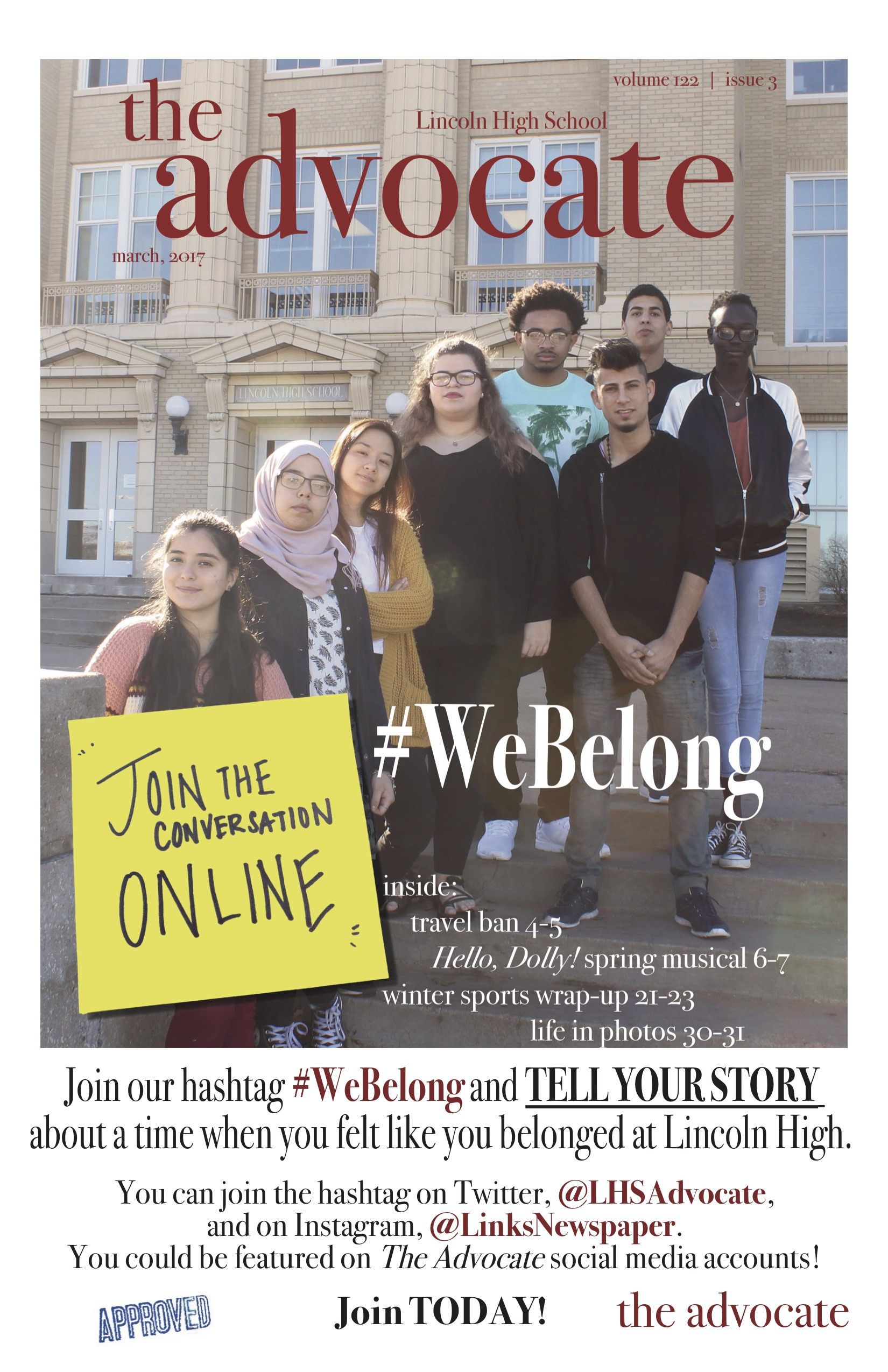 #WeBelong – Advocate Issue 3 Cover 2017