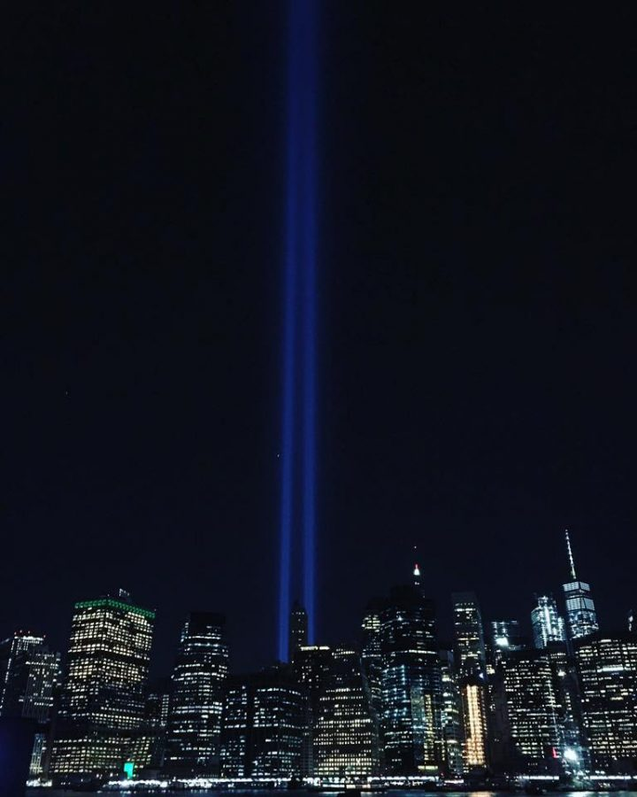 The+Tribute+in+Light++shines+from+just+south+of+the+former+site+of+the+World+Trade+Center+in+New+York+City+in+remembrance+of+the+terror+attacks+on+Sept.+11%2C+2001.+The+two+beams+of+light%2C+which+are+created+by+88+searchlights%2C+represent+the+Twin+Towers.+The+lights+shine+every+year+and+are+produced+by+the+Municipal+Art+Society+of+New+York.+Photo+courtesy+of+Nhu-Y+Ngo+%28LHS+class+of+2005%29