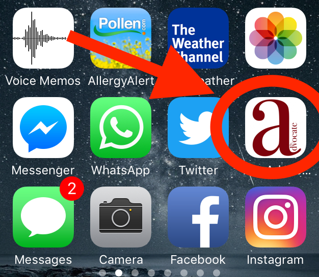 Add a shortcut to your phone for The Advocate Online (3 steps)!