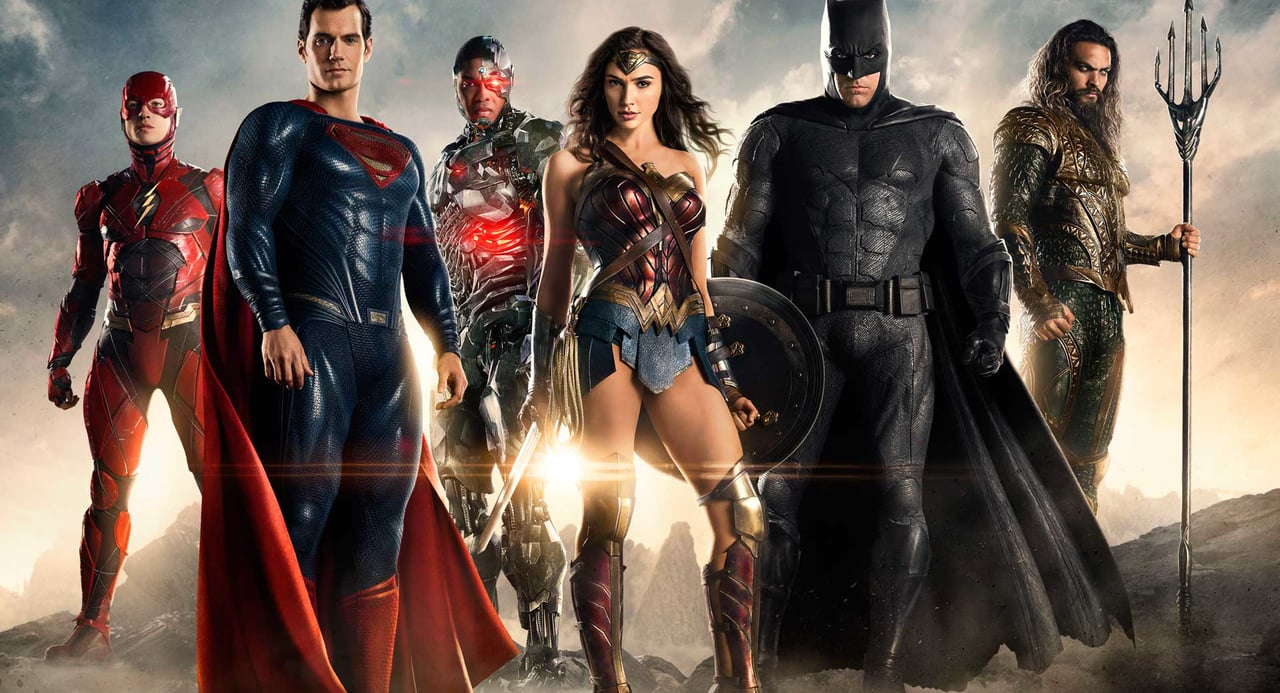 The Justice League Heroes. Photo Courtesy of Warner Bros.