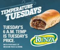 Temperature Tuesday's ad.  Applies January 2nd, 2018.