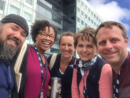 Teachers from U.S. visit Finland to learn about their education systems. From Left to right: Sean Wybrant (Colorado), Kelisa Wing (Department of Defense), Amber Vlasnik (Nebraska), Jitka Nelson (Indiana), and Kelly Elder (Montana). Photo courtesy of Amber Vlasnik