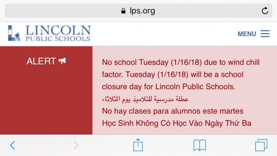 No School Tuesday