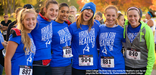 Union College Students help raise money for Heather