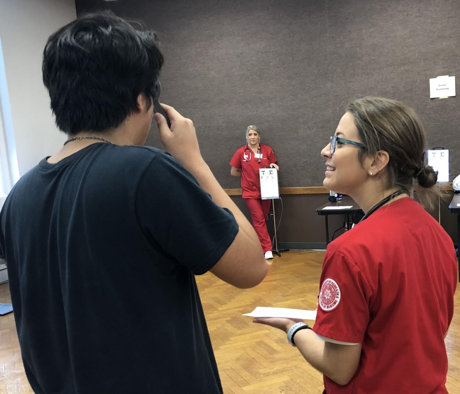 Sophomores and students new to LHS were excused from classes throughout the day on Wednesday, Sept. 26, 2018 to go through an annual health screening in Room 300. Medical staff checked vitals, vision, and hearing.