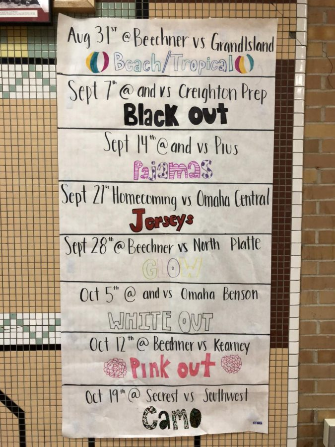 Dress Your Best! Varsity Football Student Section Themes