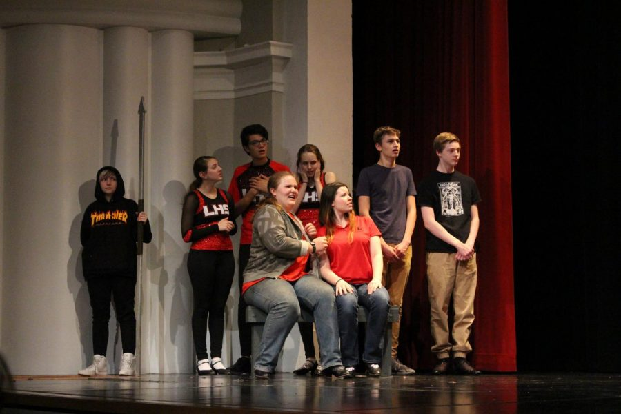 A surprising twist shocks  the ensemble during the fall show