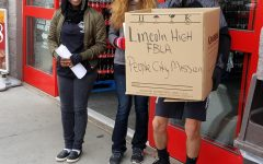40 Degrees, 4 Hours, and 318 Pounds of Food– LHS FBLA Raises Money For Lincoln People's City Mission