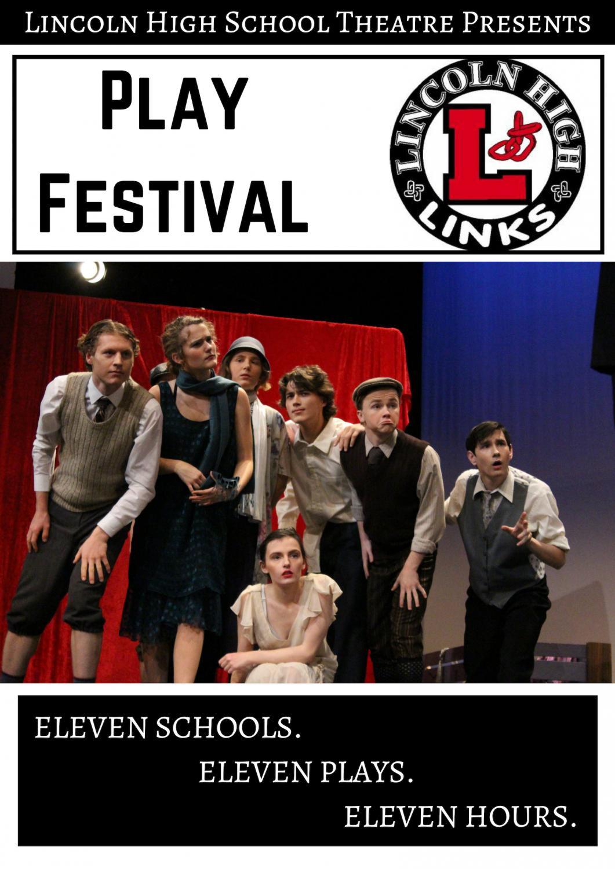 The poster for Lincoln High School's Play Festival. Poster courtesy of Jackson Mikkelsen.