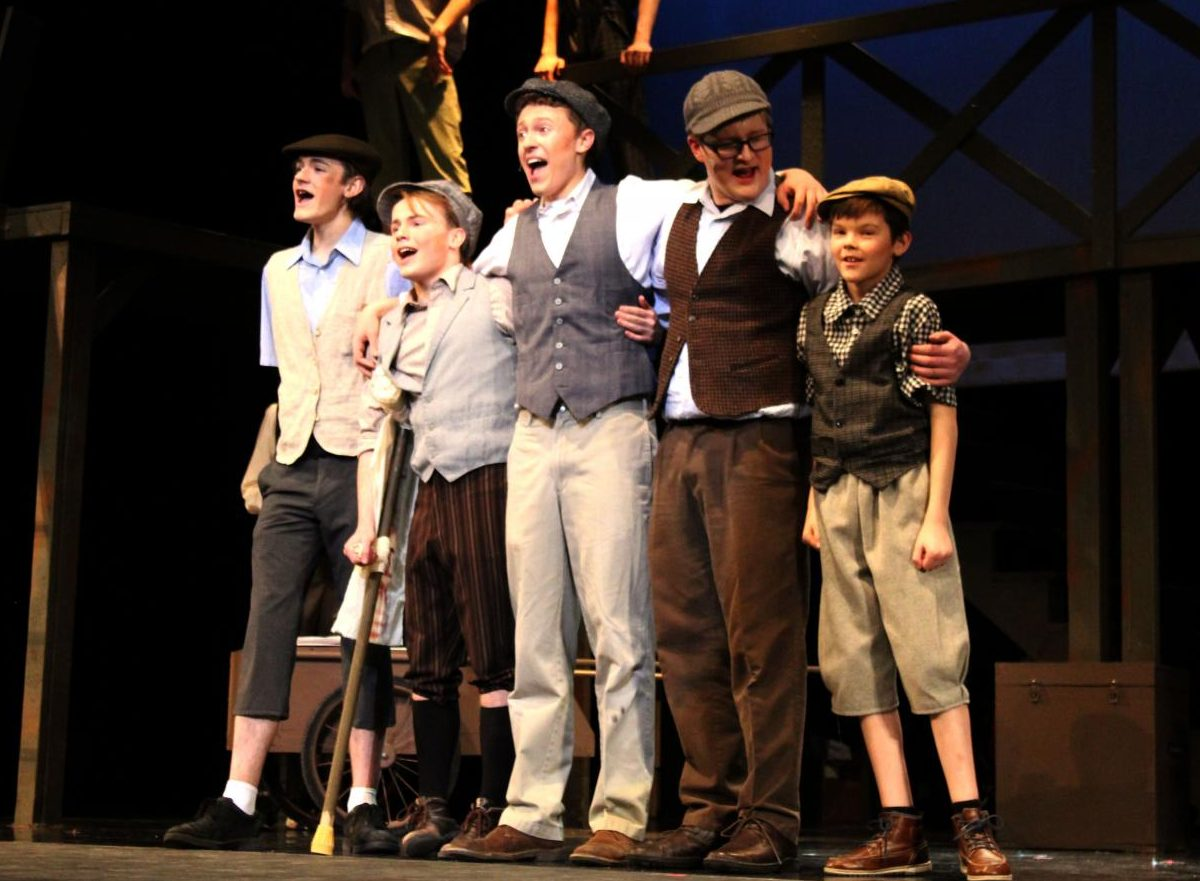 (Left to right) Carl Shack (11), Jackson Mikkelsen (12), Jacob Vanderford (11), Jack Amen (10) and Ryan Ostrander (5) sing