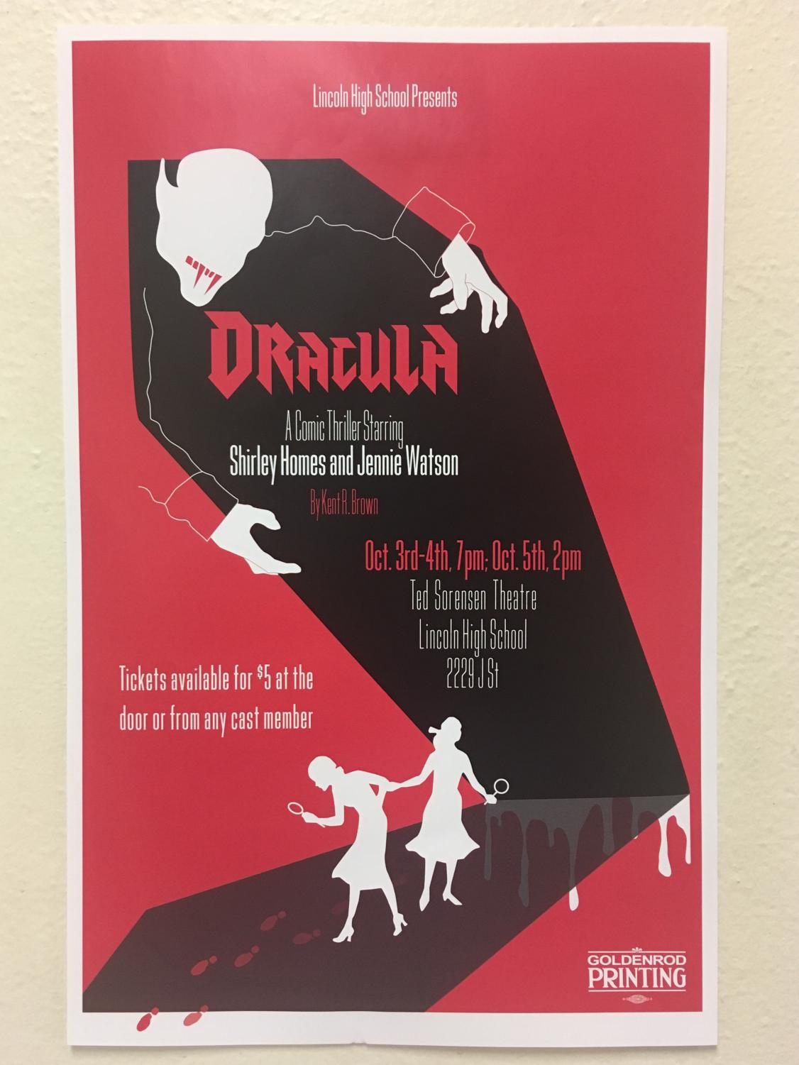 Dracula performances will run from October 3 until October 5, 2019. Photo courtesy of The Advocate.