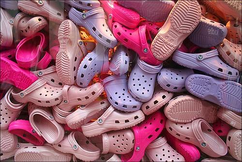 """lila crocs"" by loop_oh is licensed under CC BY-NC-SA 2.0"