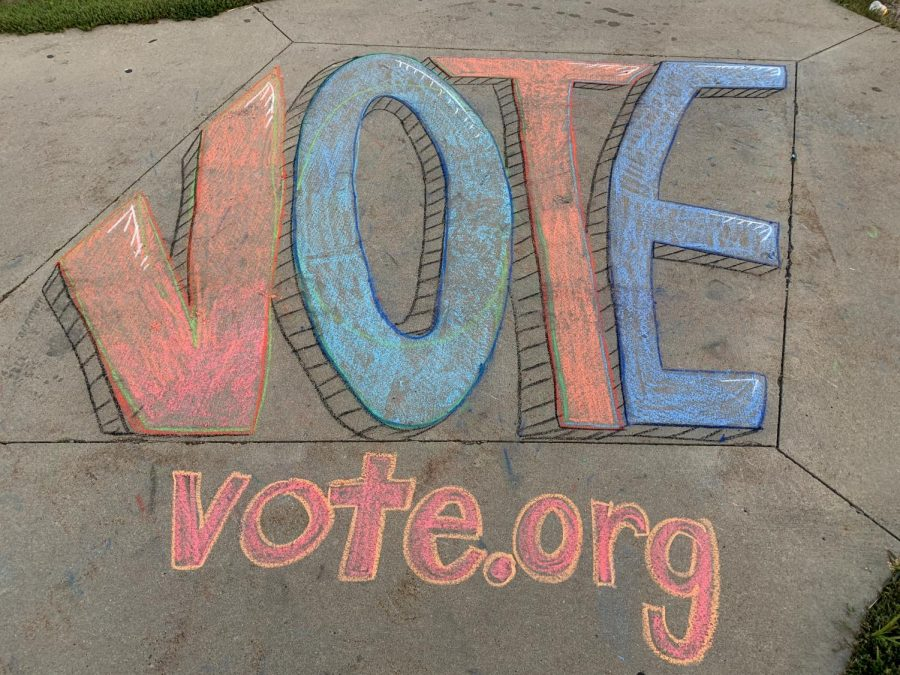Vote sidewalk chalk