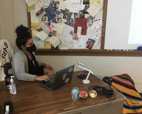 Emily Martinez teaches remote learners