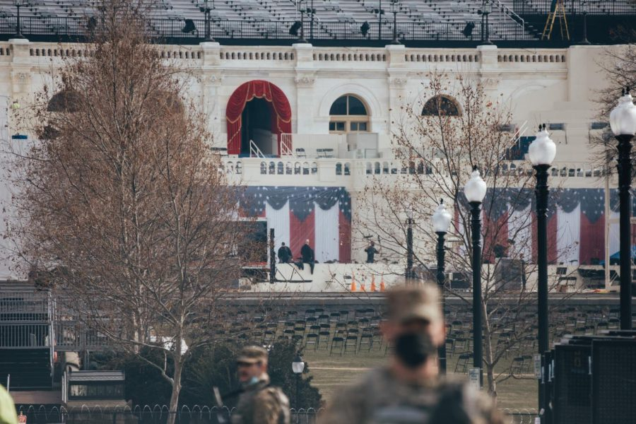 National guard on duty at Biden's inauguration
